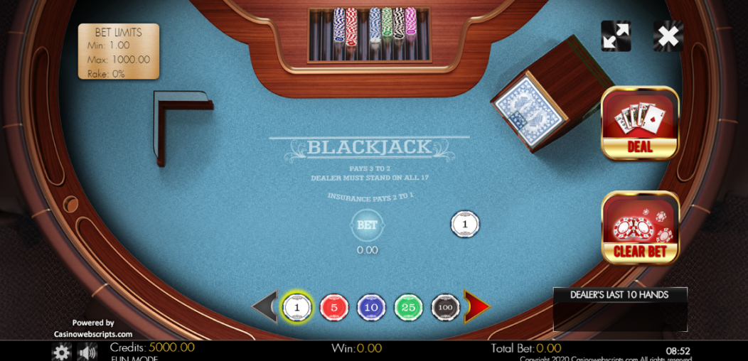 Blackjack Сонгодог